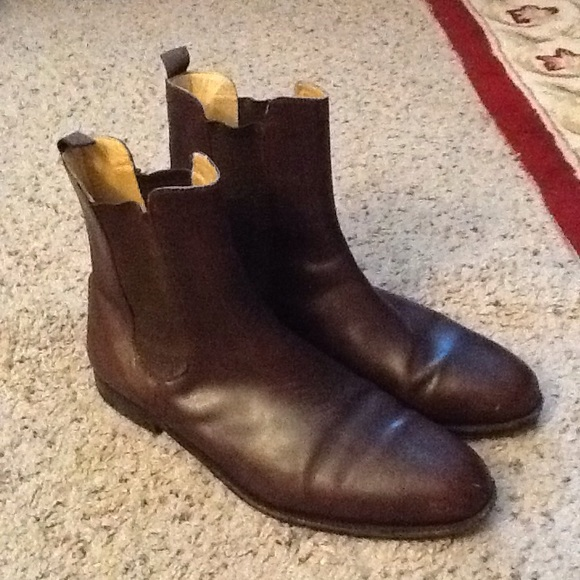 dfd244d6df409 Gucci Shoes | Mens Brown Ankle Boots Sz 46 Nice | Poshmark